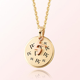 Birth Anniversary Baby Prevention Gold Necklace