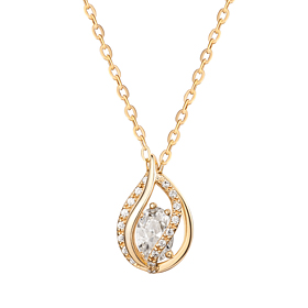 14K / 18K Water Dew Necklace [overnightdelivery]
