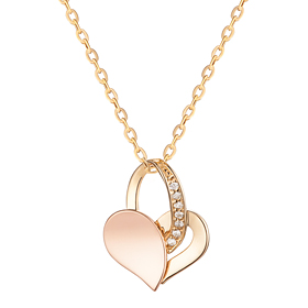 14K / 18K Half Heart Necklace [overnightdelivery]