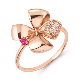 14k / 18k Clover Queen ring