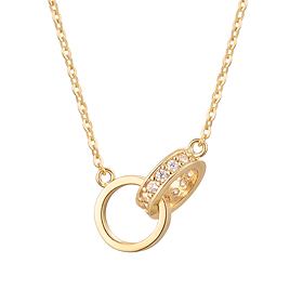 14K / 18K Rendezvous Integral Necklace [overnightdelivery]