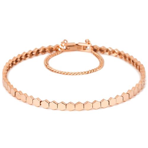 14k / 18k Hexagon bracelet [overnightdelivery]