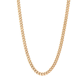 14K / 18K Wing Curve Small Hollow Necklace Chain (men, women common)