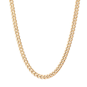 14K / 18K Wing Curve Large Hollow Necklace Chain (Men's)