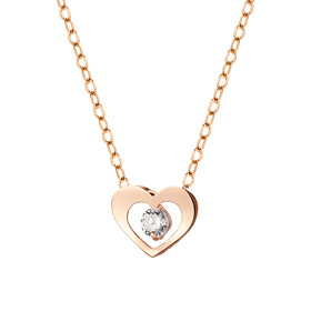 14K / 18K Wink Heart Necklace