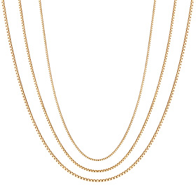 18K Sweet Cube Necklace Chain 3 types 1