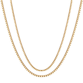 14K Man Cube Necklace Chain 2 pieces 1 (Men's)