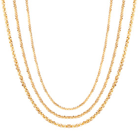 14K dense petal necklace chain 3 types 1
