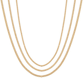 14K Sweet Curve Necklace Chain 3 types 1