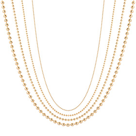 14K Glass bead necklace chain 4 kinds 1