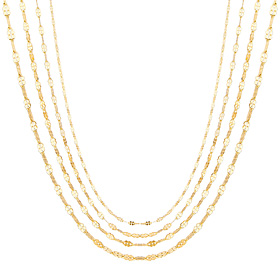 14K Clover Necklace Chain 4 types 1