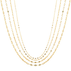 14K art necklace chain 4 types 1