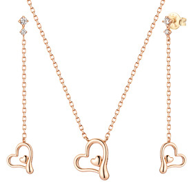 14K / 18K Peeling Love set [Necklace + earring]