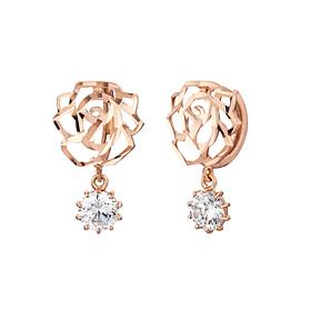 14K / 18K sweet rose earring [overnightdelivery]