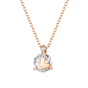 14K Shine Butterfly Necklace