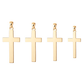 14K / 18K Simple Cross Pendants purchase only 4 types 1