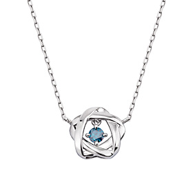 14K / 18K Tree Star Part 1 blue diamond Necklace