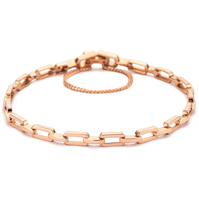 14k / 18k rope leather bracelet