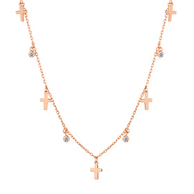 14K / 18K Cross Tree Necklace