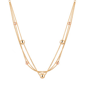 14K / 18K Curtain Beads Necklace
