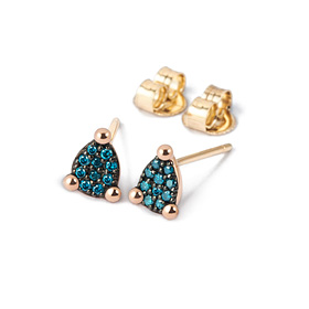 14K / 18K mini tears blue diamond earring