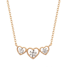 14K / 18K Triple Heart Necklace