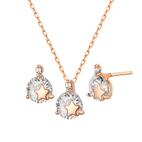 14K Shine Star set [Necklace + earring]