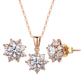 14K / 18K Gardner 3 pcs set [Necklace + earring] [swarovski] [overnightdelivery]