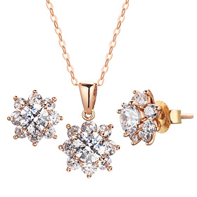 14K / 18K GARDNIA 5 pcs set [Necklace + earring] [swarovski]