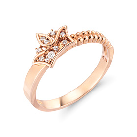 14k / 18k Royal Crown ring
