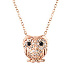 14K / 18K Lily Owl Necklace