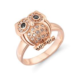 14K / 18K Lily owl ring