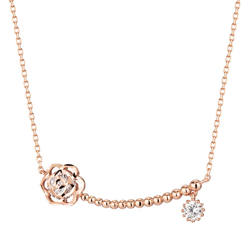 14K / 18K Bubble Rose Necklace