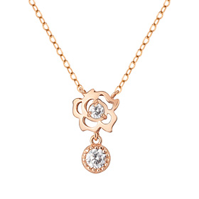 14K / 18K Rose Swing Necklace