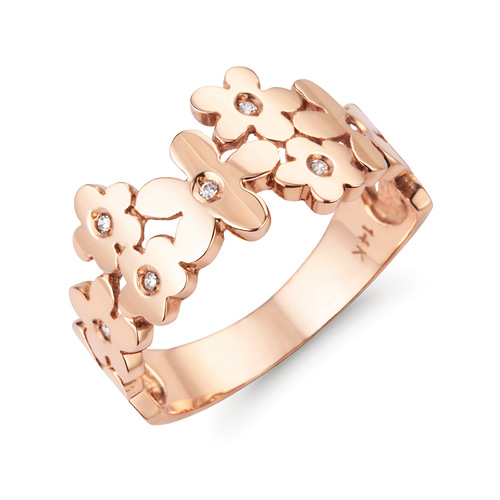 14k / 18k flower way ring