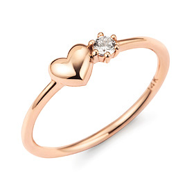 14k / 18k cheering heart ring