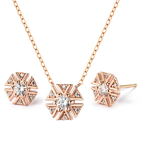 14K / 18K Wish Flower set [Necklace + earring]