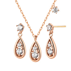 14K / 18K twinkle drop set [Necklace + earring]
