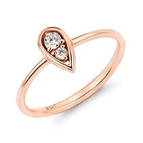 14k / 18k twin ring drop ring