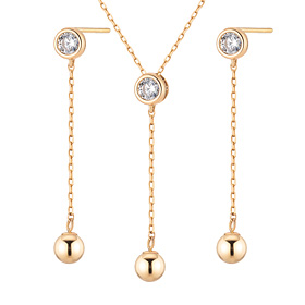 14K coring set [Necklace + earring]