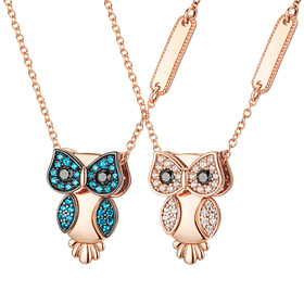14K / 18K Shainrichi Owl Initial Collar Two