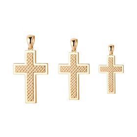 14K / 18K Luge Cross Pendants purchase only 3 pieces 1