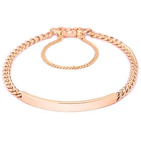 14k / 18k curve flat (small) bracelet