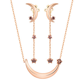 14K / 18K dark door set [Necklace + earring]