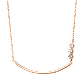 14K / 18K Wave Stick Necklace
