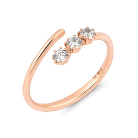 14K / 18K Wave Stick Open Ring