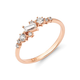 14K / 18K crystal cave ring