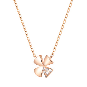 14K / 18K Shine Clover Necklace