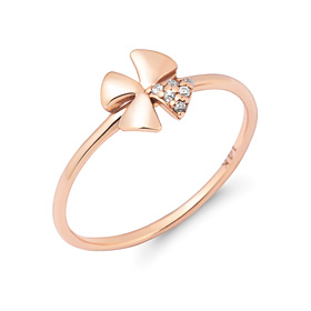 14K / 18K Shine Clover ring