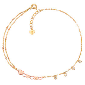 14k / 18k Join Love anklet